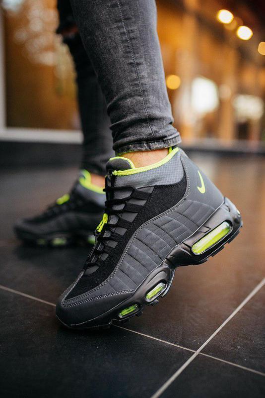 "Шикарные мужские кроссовки nike air max 95 sneakerboot ""black ..."