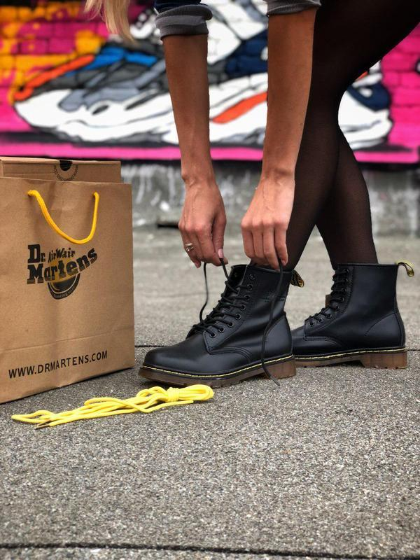Шикарные кожаные ботинки/ сапоги dr. martens 1460 black унисек...