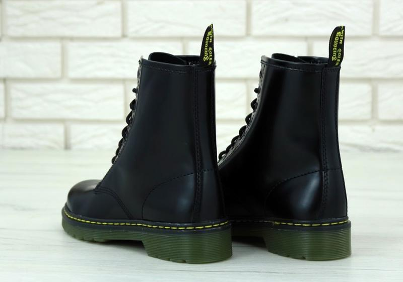 Женские осенние ботинки на платформе dr. martens 1460 black 😍 ... - Фото 2
