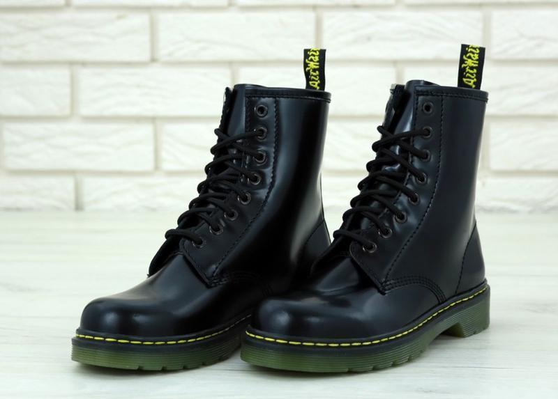 Женские осенние ботинки на платформе dr. martens 1460 black 😍 ... - Фото 3
