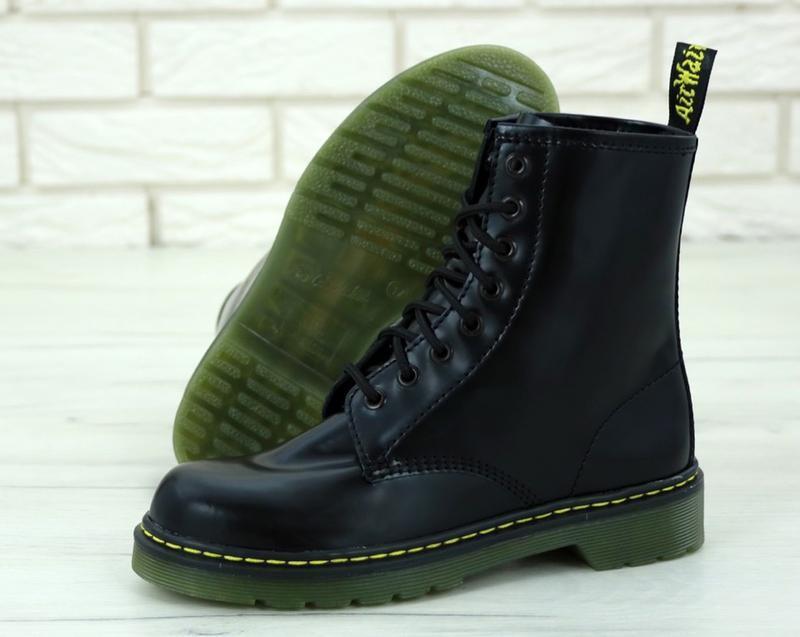 Женские осенние ботинки на платформе dr. martens 1460 black 😍 ... - Фото 4