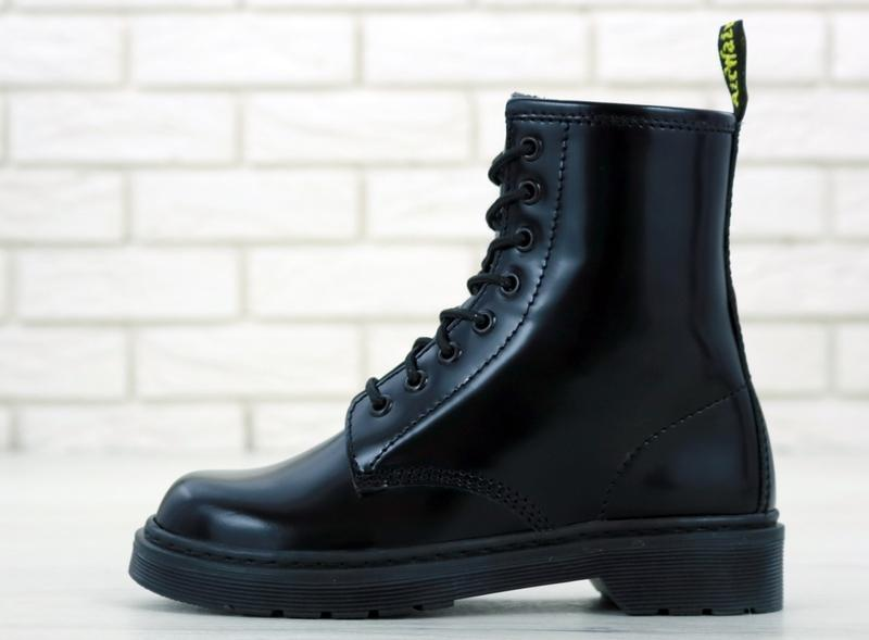 Женские осенние ботинки на платформе dr. martens 1460 black 😍 ... - Фото 5