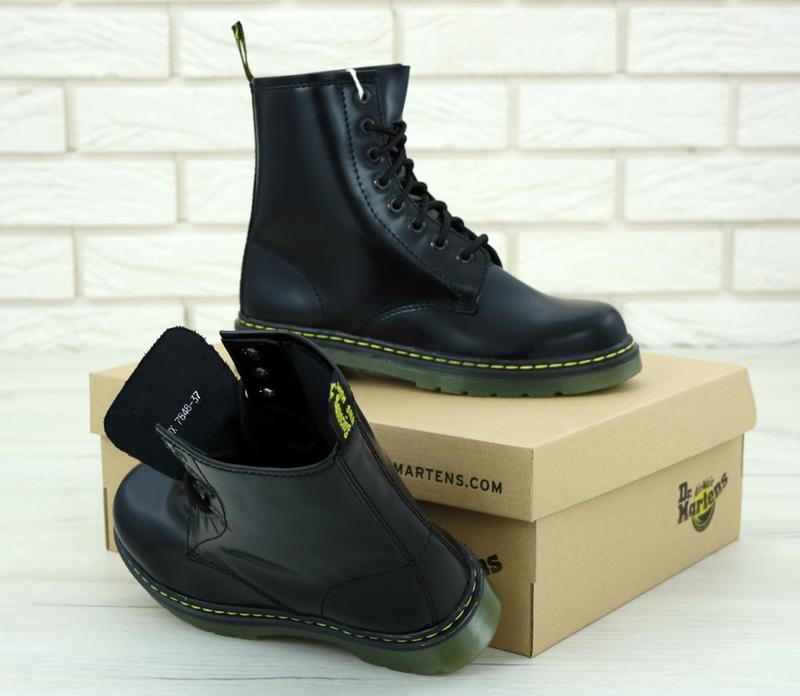Женские осенние ботинки на платформе dr. martens 1460 black 😍 ... - Фото 6