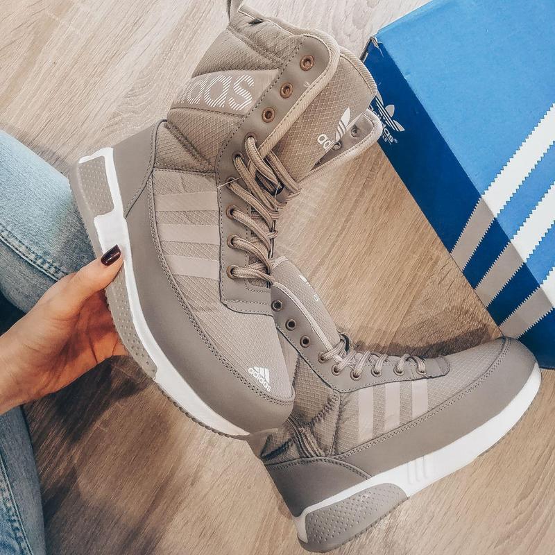 Шикарные женские зимние дутики/ сапоги/ ботинки reebok brown ❄...