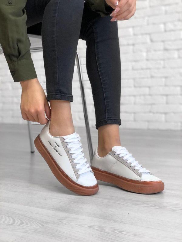 Шикарные женские кожаные кроссовки puma x han kjobenhavn😍 (вес...