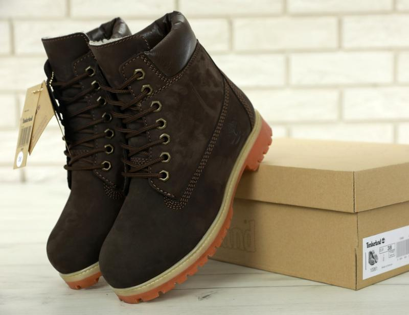 Шикарные зимние женские ботинки/ сапоги timberland brown fur 😍...