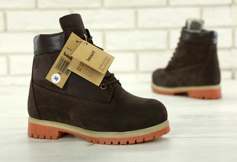Шикарные зимние женские ботинки/ сапоги timberland brown fur 😍... - Фото 2