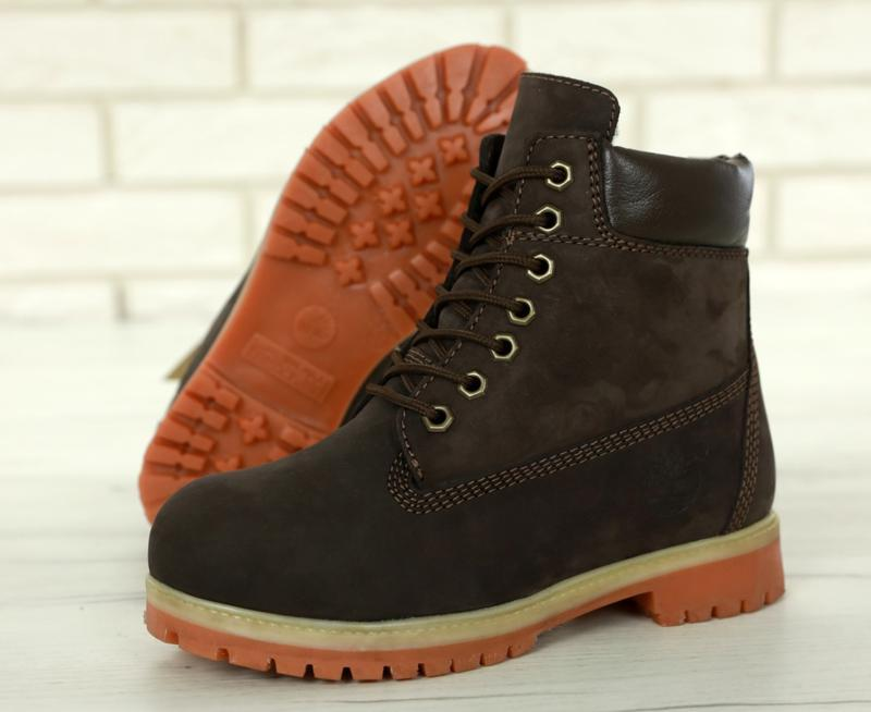 Шикарные зимние женские ботинки/ сапоги timberland brown fur 😍... - Фото 3