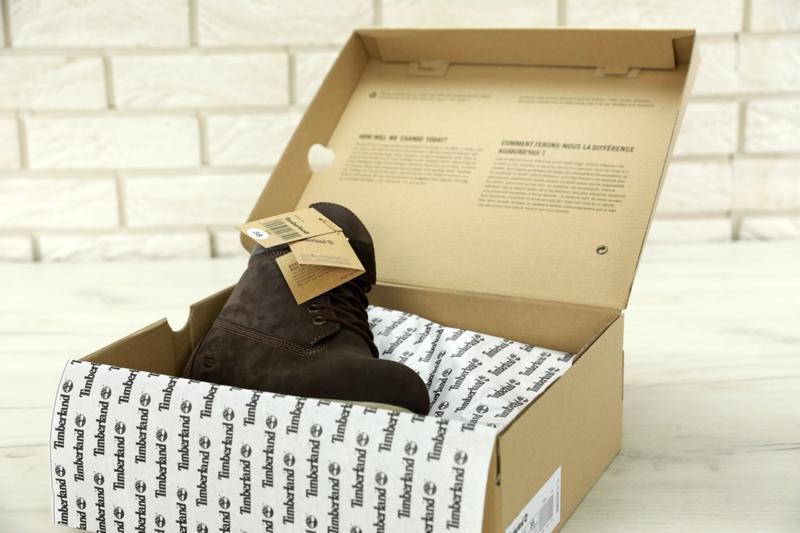 Шикарные зимние женские ботинки/ сапоги timberland brown fur 😍... - Фото 7