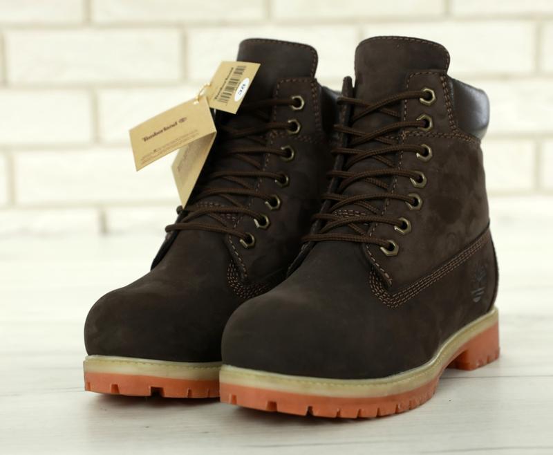 Шикарные зимние женские ботинки/ сапоги timberland brown fur 😍... - Фото 9