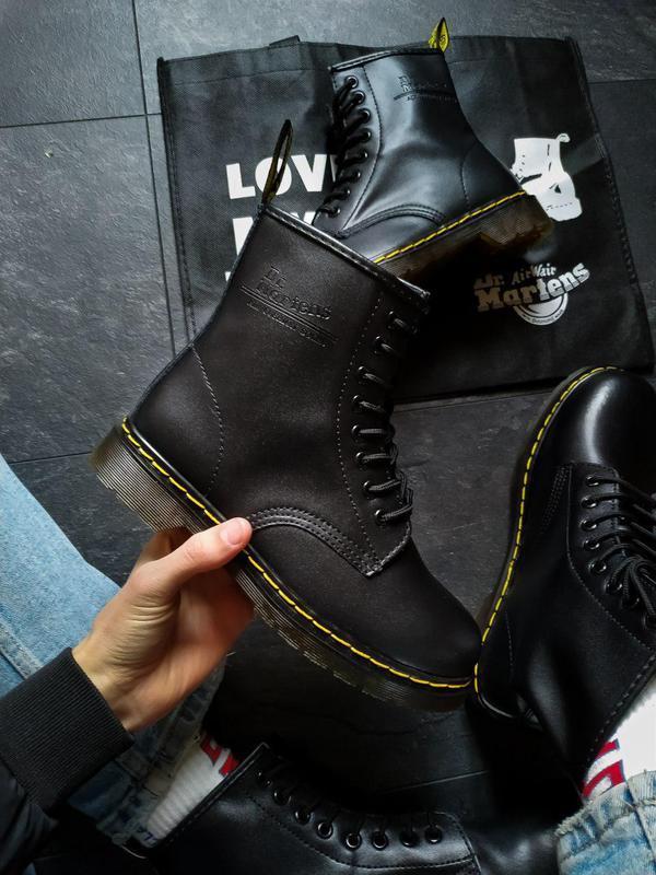Шикарные кожаные ботинки/ сапоги dr. martens 1460 black унисек... - Фото 7