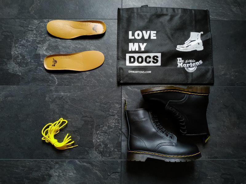 Шикарные кожаные ботинки/ сапоги dr. martens 1460 black унисек... - Фото 8