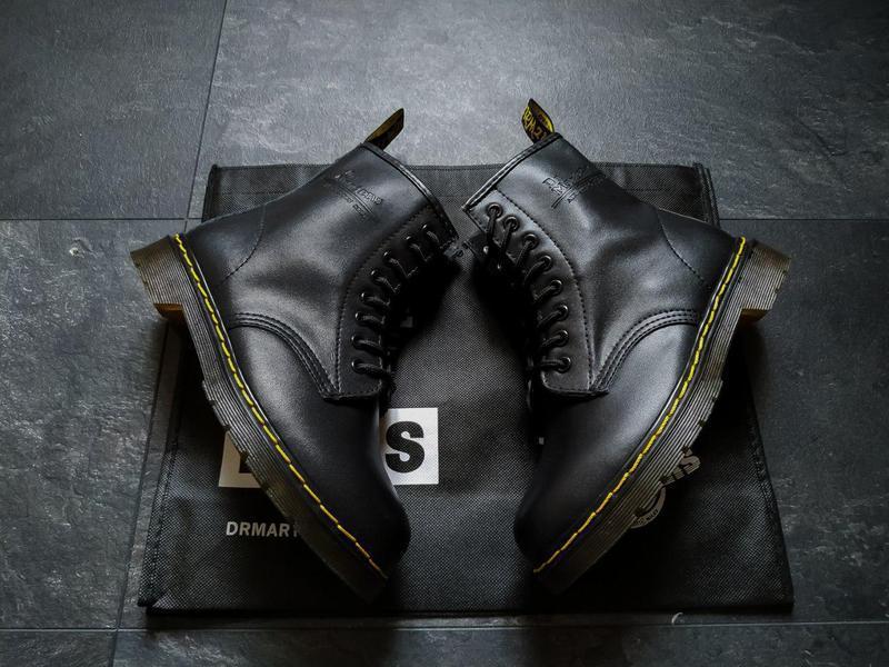 Шикарные кожаные ботинки/ сапоги dr. martens 1460 black унисек... - Фото 9