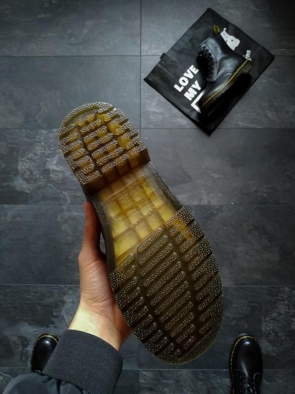 Шикарные кожаные ботинки/ сапоги dr. martens 1460 black унисек... - Фото 10