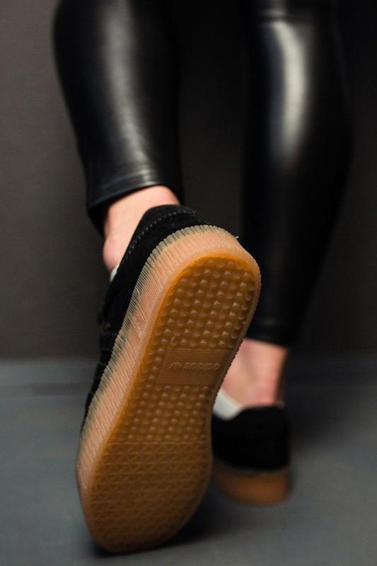 Шикарные женские замшевые кроссовки adidas samba black 😍 (весн... - Фото 2