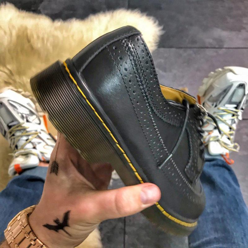Шикарные кожаные туфли/ броги dr. martens 1461 white (унисекс) 😍 - Фото 2