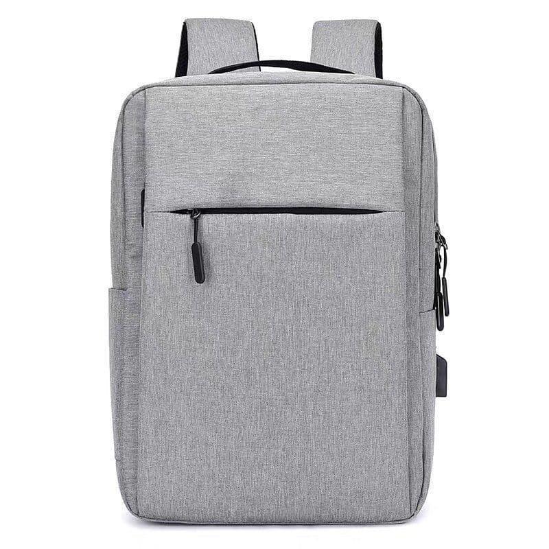 Городской мужской рюкзак в дорогу под ноубук документы серый