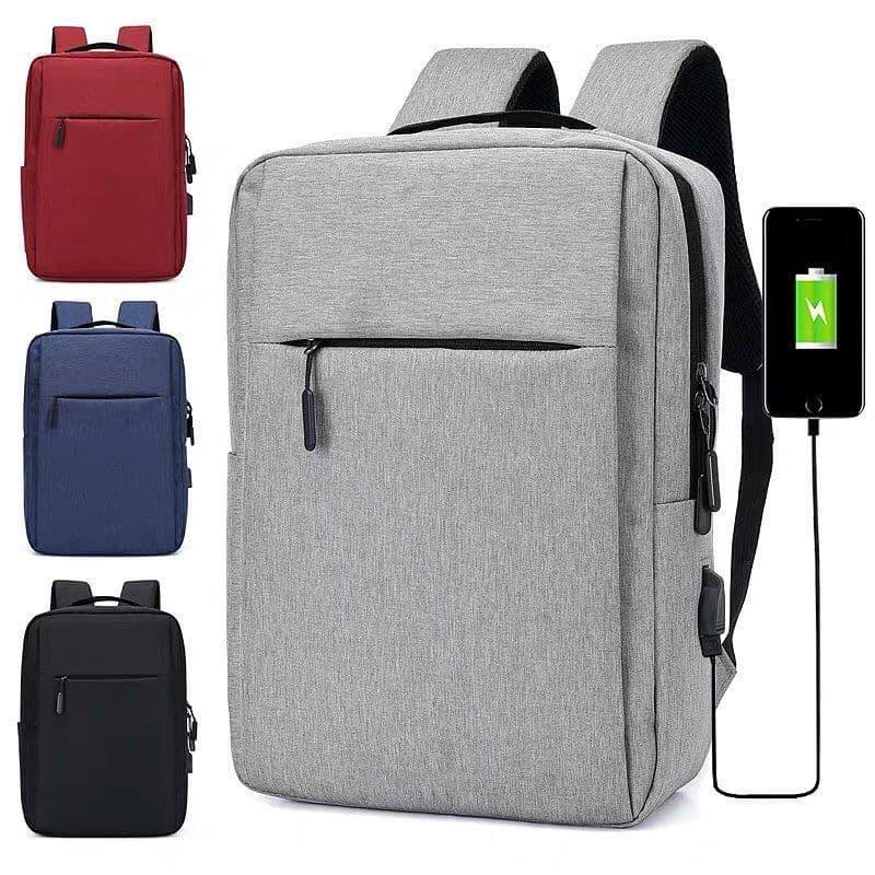 Городской мужской рюкзак в дорогу под ноубук документы серый - Фото 2