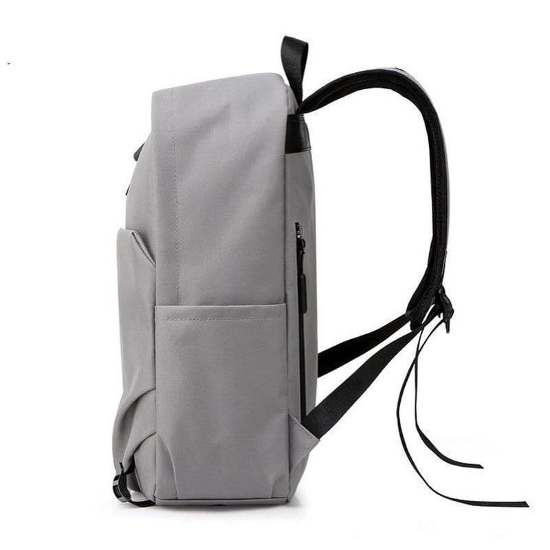 Городской мужской рюкзак в дорогу под ноубук документы серый - Фото 4