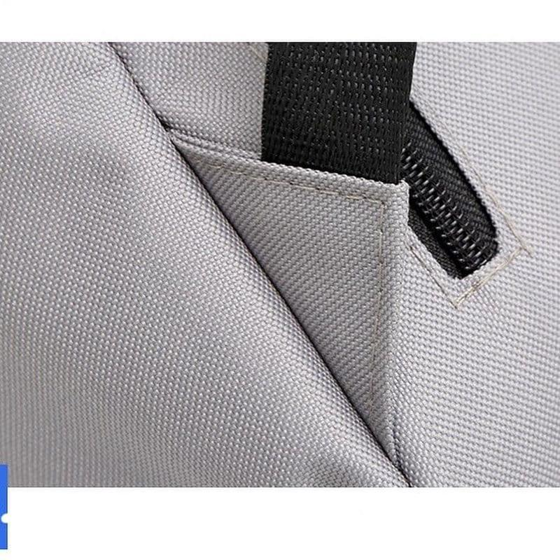 Городской мужской рюкзак в дорогу под ноубук документы серый - Фото 5
