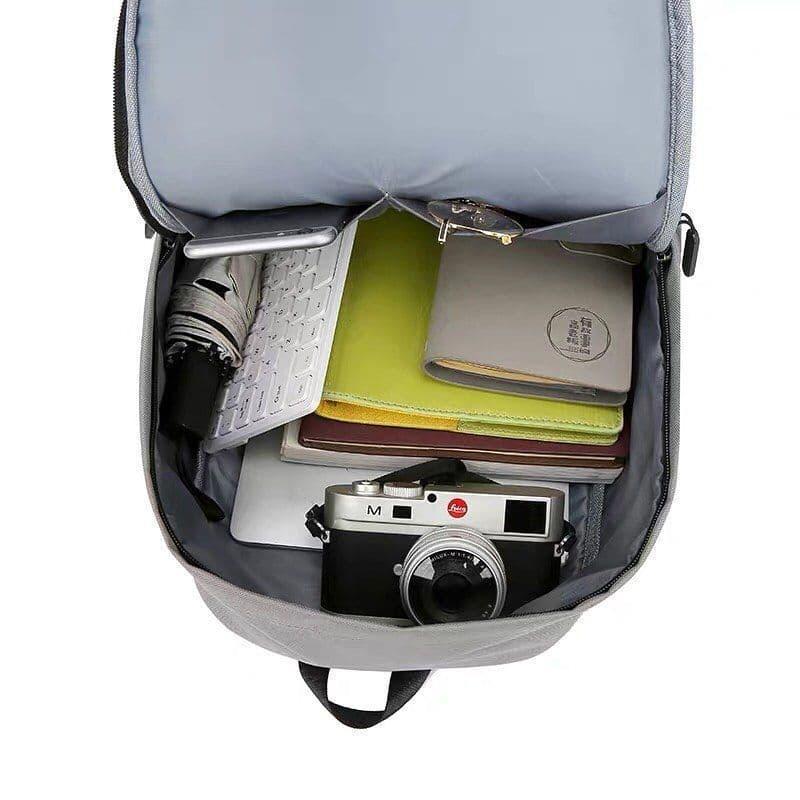 Мужской городской спортивный рюкзак серый в дорогу - Фото 2