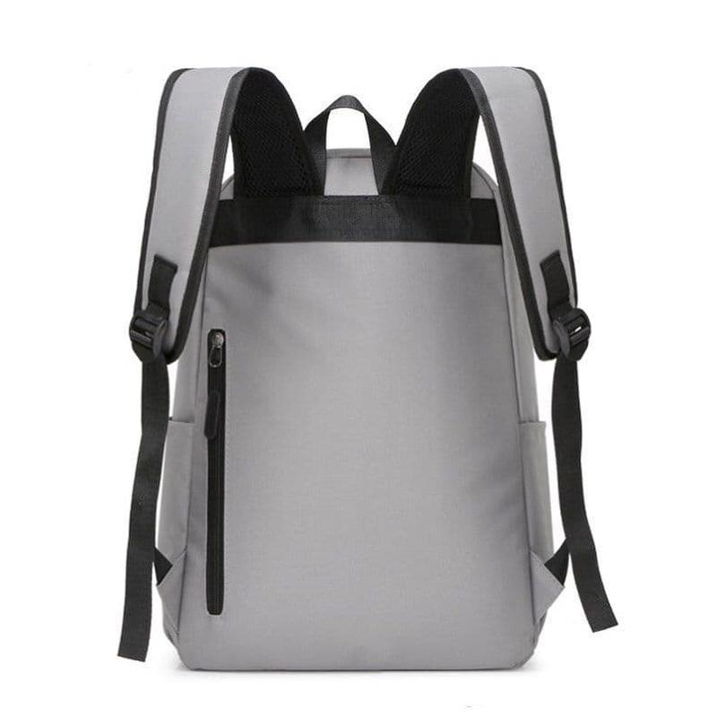 Мужской городской спортивный рюкзак серый в дорогу - Фото 3