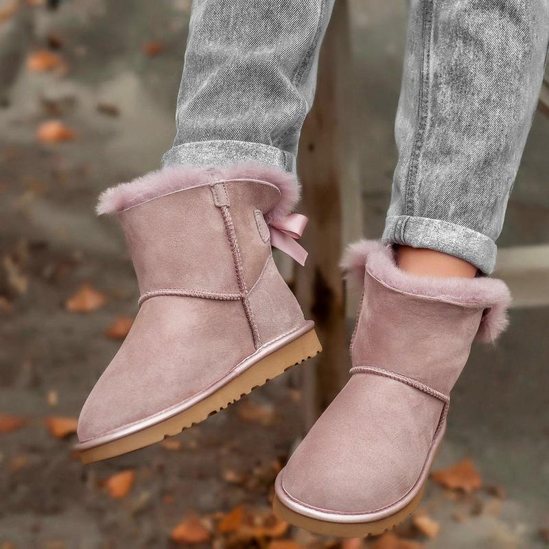 Ugg classic mini pink! женские замшевые зимние угги/ сапоги/ б... - Фото 7
