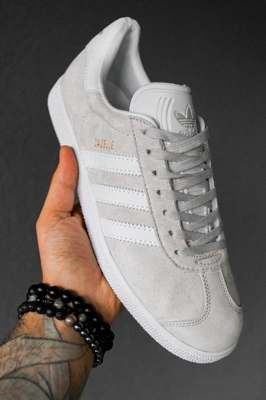 Шикарные кроссовки adidas gazelle grey унисекс 😍 (весна/ лето/... - Фото 3