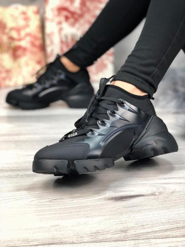 Шикарные женские хайповые кроссовки чёрного цвета 😍 {весна/ ле... - Фото 2