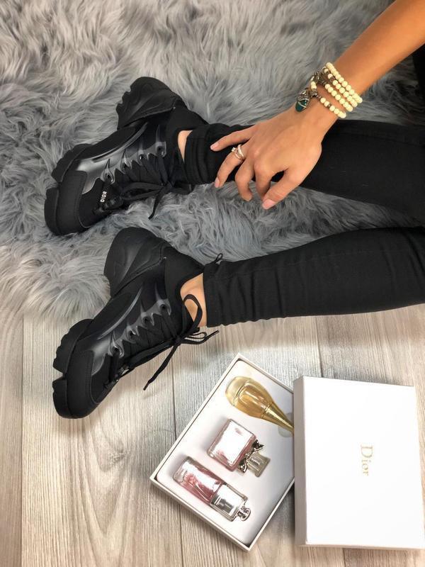 Шикарные женские хайповые кроссовки чёрного цвета 😍 {весна/ ле... - Фото 7