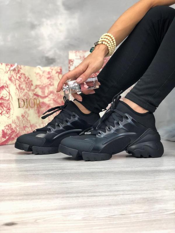 Шикарные женские хайповые кроссовки чёрного цвета 😍 {весна/ ле... - Фото 8
