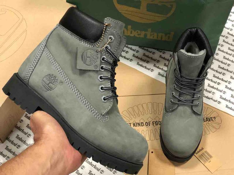 Шикарные зимние ботинки timberland gray fur унисекс 😍 (зима/ с...