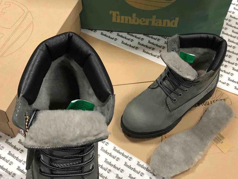 Шикарные зимние ботинки timberland gray fur унисекс 😍 (зима/ с... - Фото 2