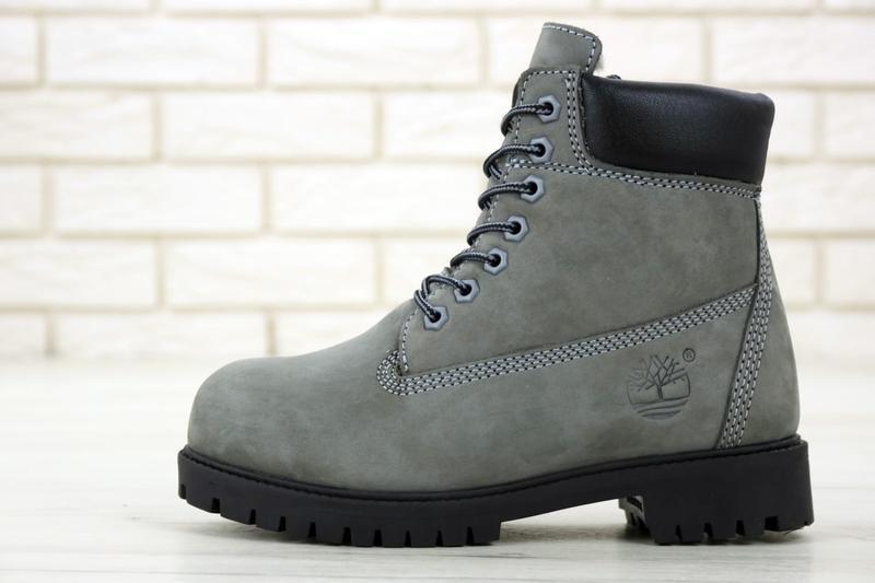 Шикарные зимние ботинки timberland gray fur унисекс 😍 (зима/ с... - Фото 4