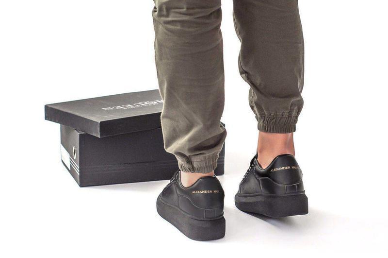 Шикарные женские кожаные кроссовки alexander mcqueen black 😍 (... - Фото 6
