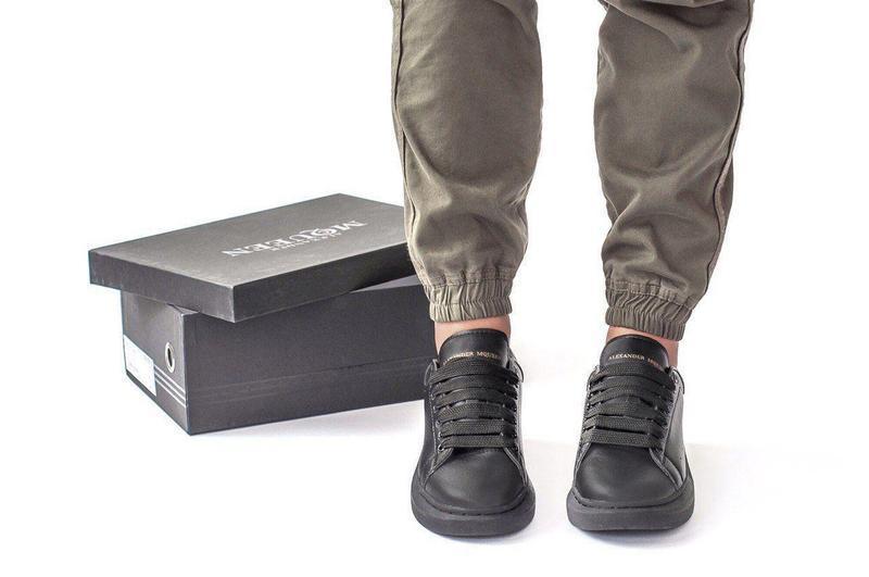 Шикарные женские кожаные кроссовки alexander mcqueen black 😍 (... - Фото 7