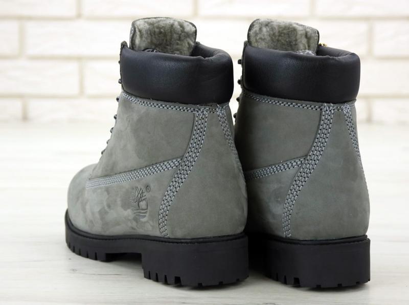 Шикарные зимние ботинки timberland gray fur унисекс 😍 (зима/ с... - Фото 7