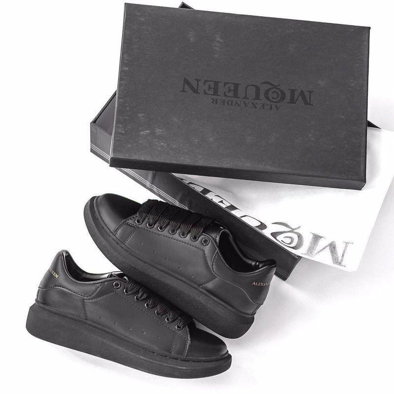 Шикарные женские кожаные кроссовки alexander mcqueen black 😍 (... - Фото 9