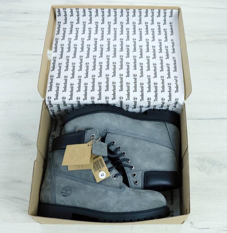 Шикарные зимние ботинки timberland gray fur унисекс 😍 (зима/ с... - Фото 9
