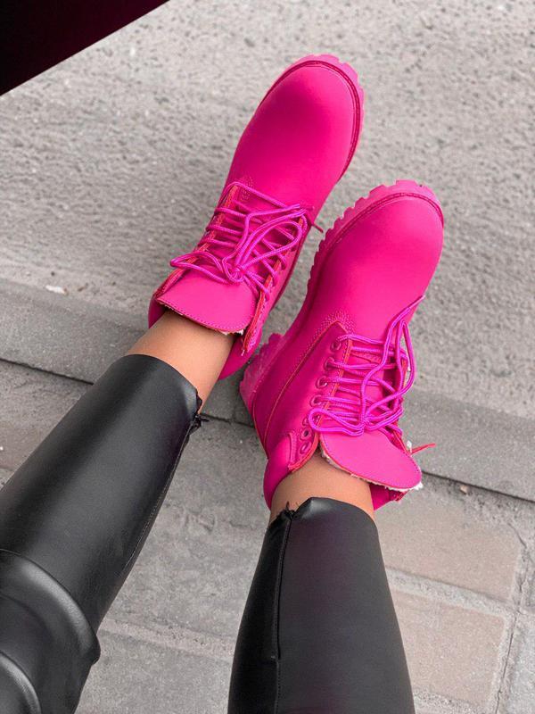 Шикарные женские зимние ботинки/ сапоги classic boot violet fu... - Фото 3