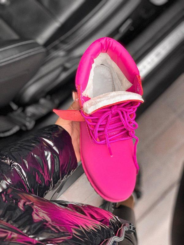Шикарные женские зимние ботинки/ сапоги classic boot violet fu... - Фото 4