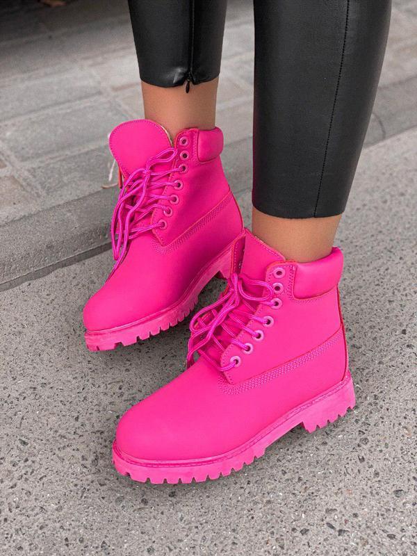 Шикарные женские зимние ботинки/ сапоги classic boot violet fu... - Фото 6