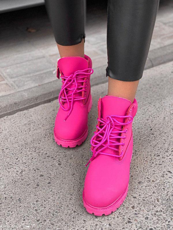 Шикарные женские зимние ботинки/ сапоги classic boot violet fu... - Фото 7