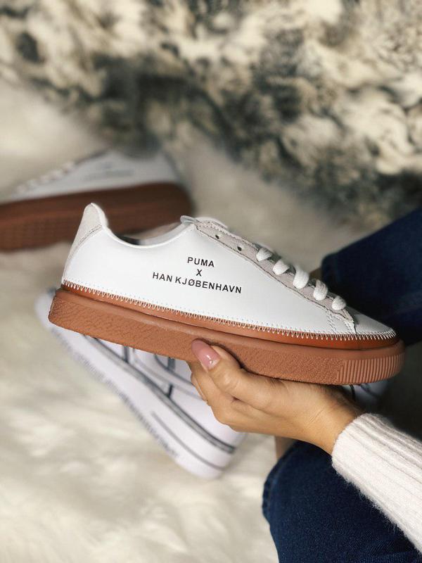 Шикарные женские кожаные кроссовки puma x han kjobenhavn 😍 (ве...