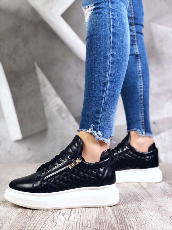 ❤ невероятные женские кроссовки с молниями сбоку ❤ - Фото 3
