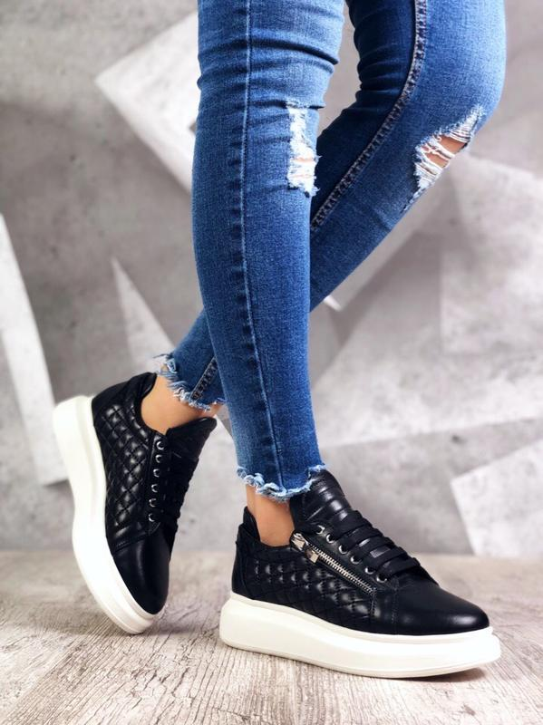 ❤ невероятные женские кроссовки с молниями сбоку ❤ - Фото 4