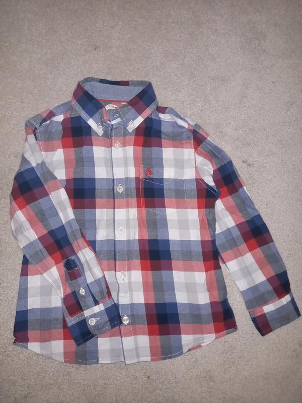 Рубашка sfera в клетку на мальчика 4-6 лет рост 110-116