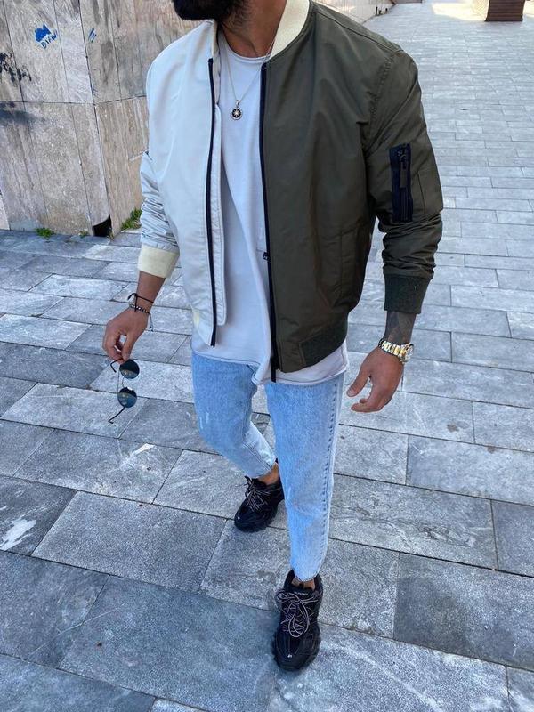 Стильный мужской бомбер куртка мужская одежда осень весна