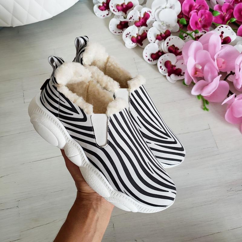 ❤невероятные женские стильные зимние  кроссовки слипоны ❤