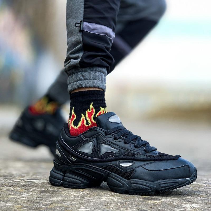 Мужские кроссовки adidas raf simons ozweego black  41-43